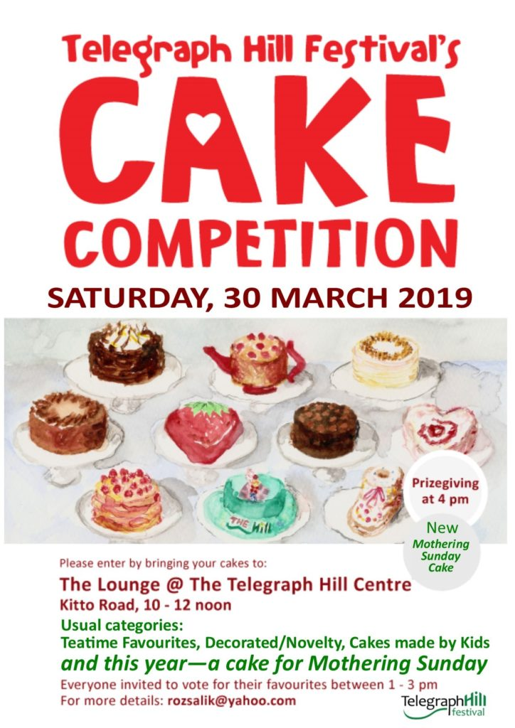 The 2019 Telegraph Hill Festival Cake Competition